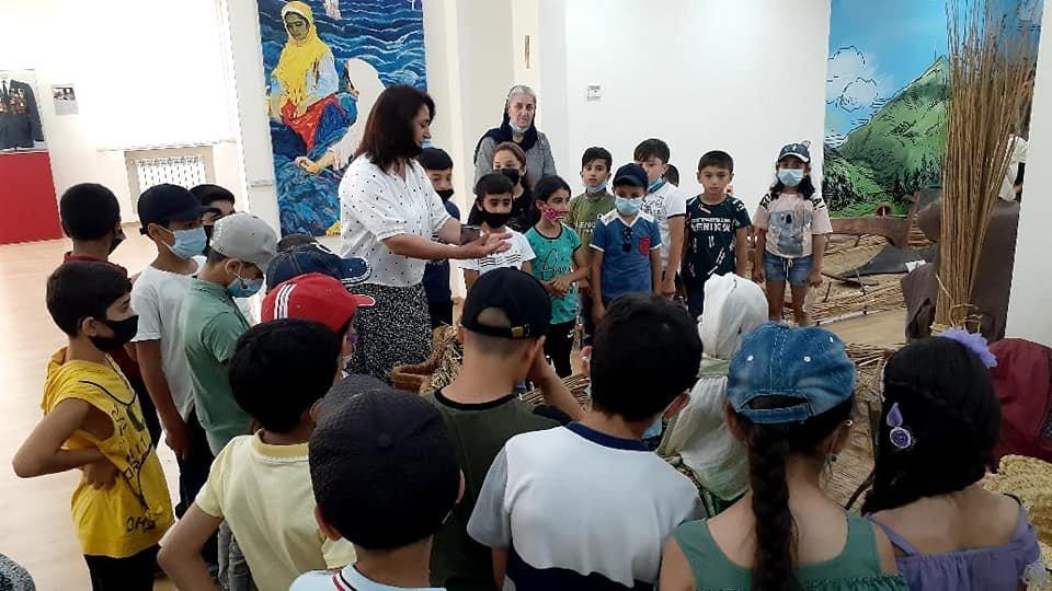 Masallı Rayon Tarix-Diyarşünaslıq Muzeyində məktəblilər üçün yay ekskursiyası